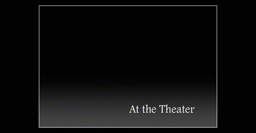 At the Theater Title Slide