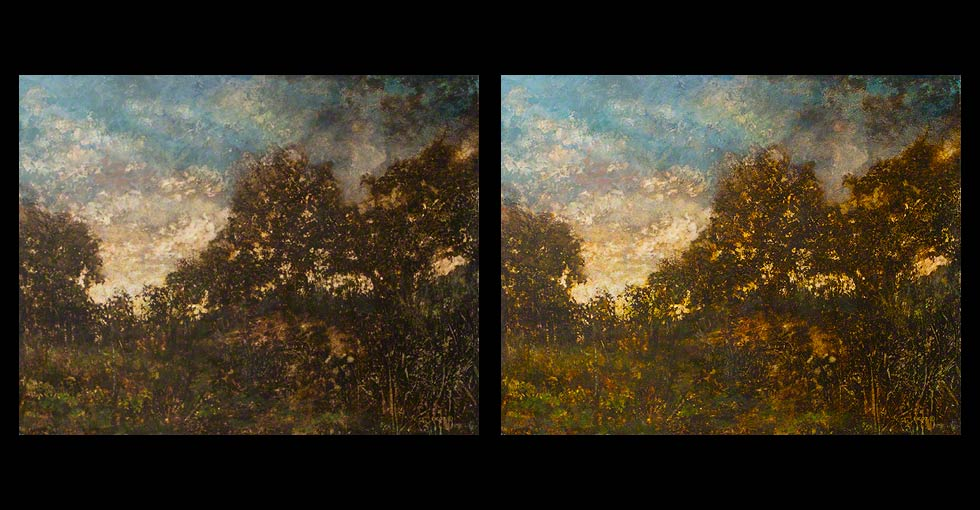 Before and After Oil Painting, Twilight 2