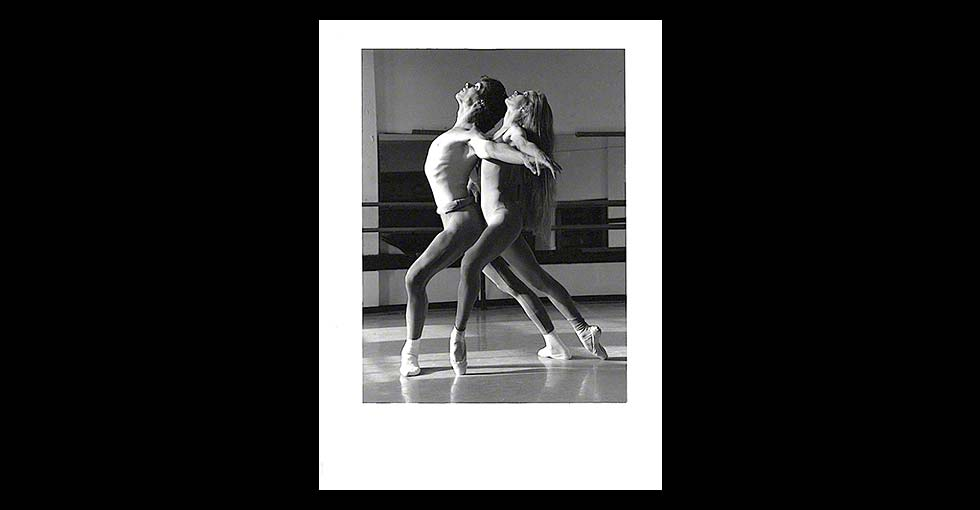 Male and Female Ballet Dancers in Improvisational Pose, Facing Left, by © Martha DiMeo