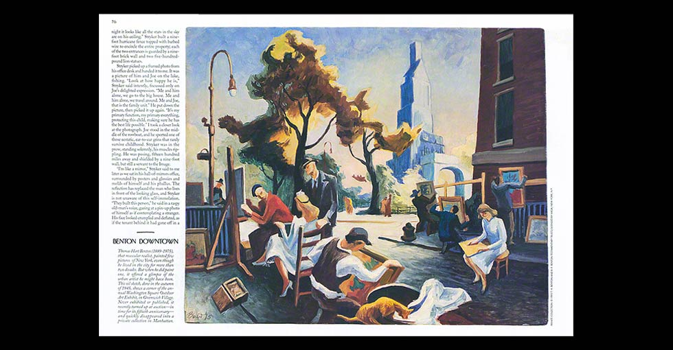 Thomas Hart Benton Painting Color Correction Retouching Example