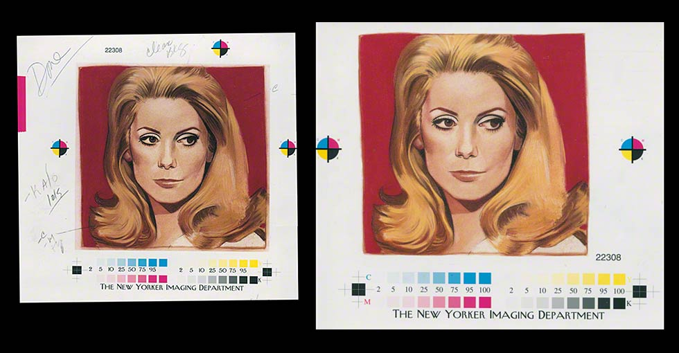 Color Correcting Artwork for Reproduction Before and After