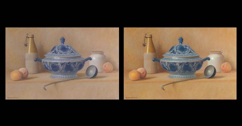 Before & After Oil Painting by Melody Phaneuf
