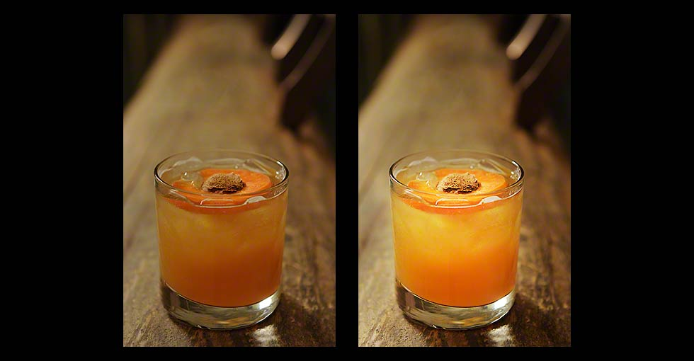 Color Correction of Beverage Photographyt, Before & After Examples