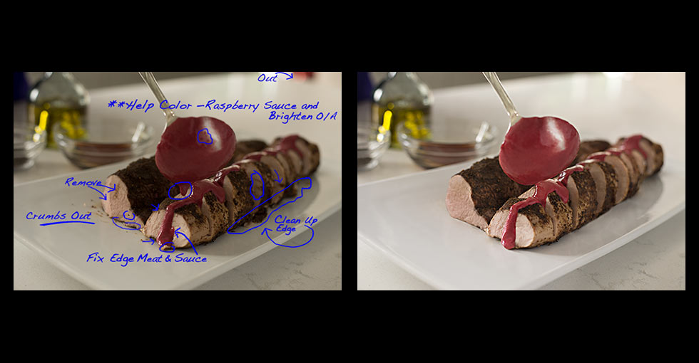 Color Correcting / Retouching Food Photography