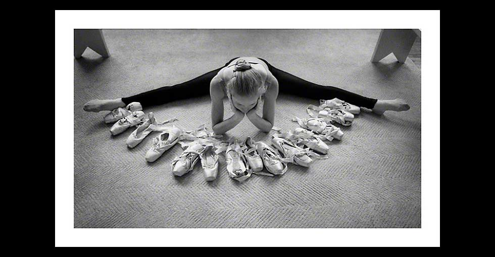 Ballet Dancer with Pointe Shoes-Photo Available for Licensing