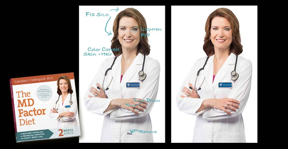 Portrait Retouching for the book The MD Factor Diet