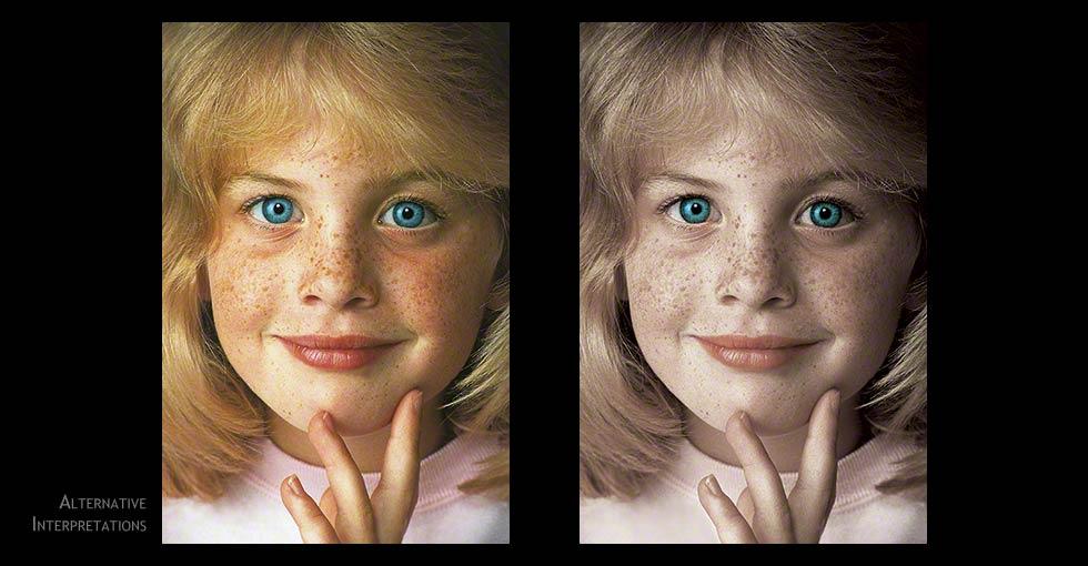 Desaturate Photoshop Technique Portrait of Blue Eyed Girl