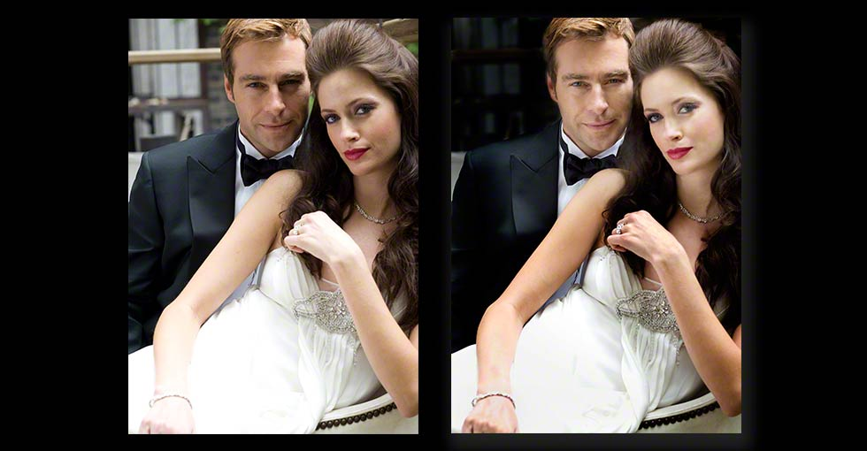 Portrait Retouching of Couple for Magazine Cover