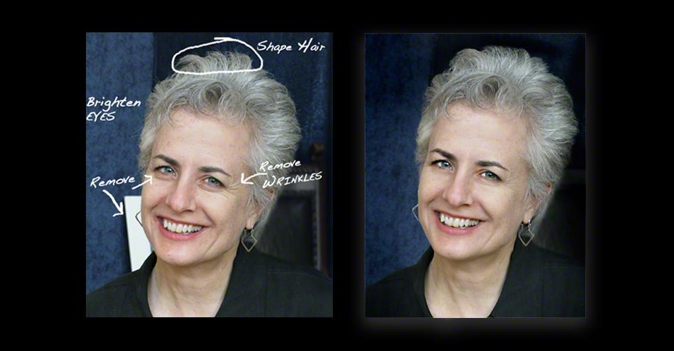 portrait retouching, photo of Martha DiMeo