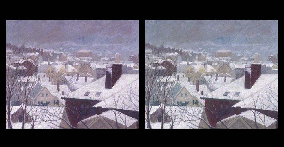 Before and After OIl Painting, Winter's Passage 1