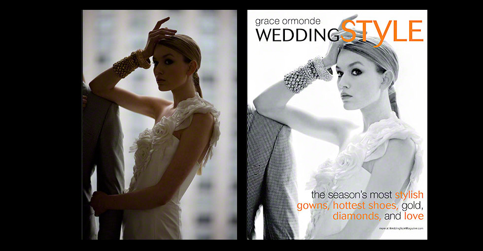 Retouching for Magazine Cover Before and After